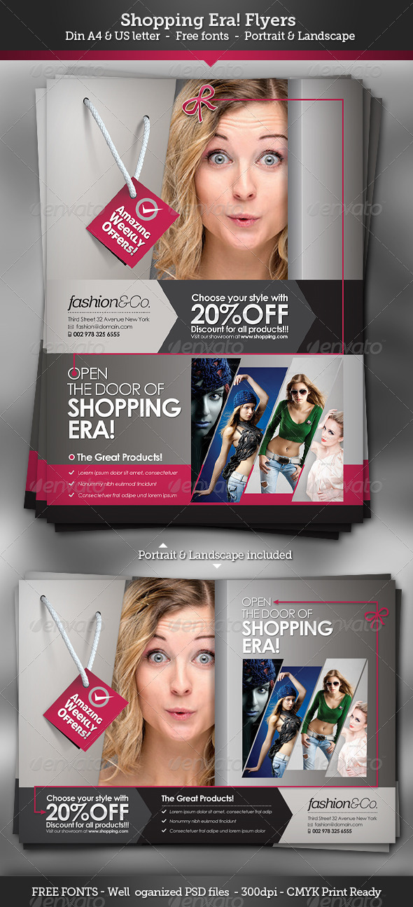 GraphicRiver Shopping Era Flyers 3235367