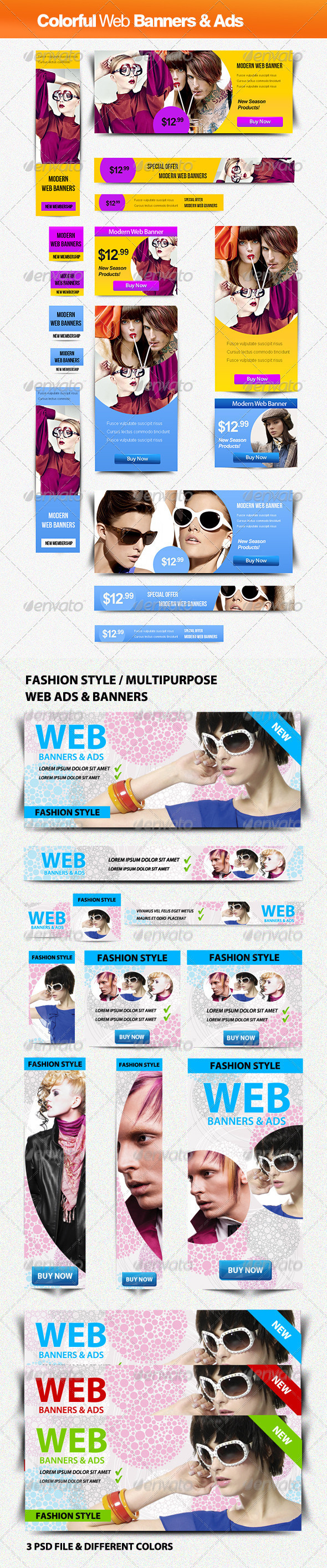 GraphicRiver Fashion Style Banners Bundle 3246618