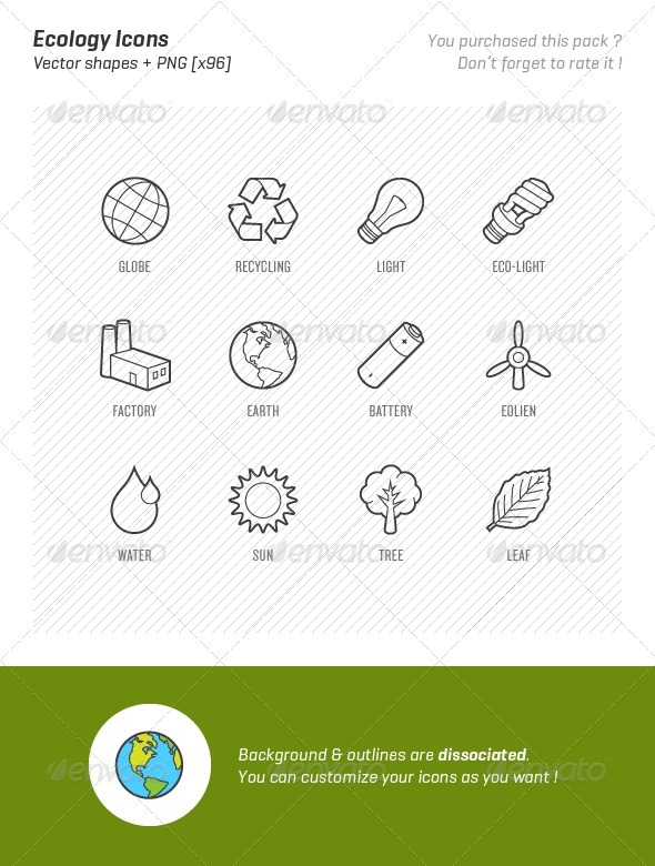 GraphicRiver Ecology Icons 1933316