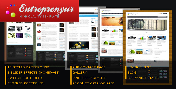 Entrepreneur- Portfolio & Business Template -