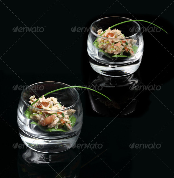 Gourmet tuna salad - Stock Photo - Images