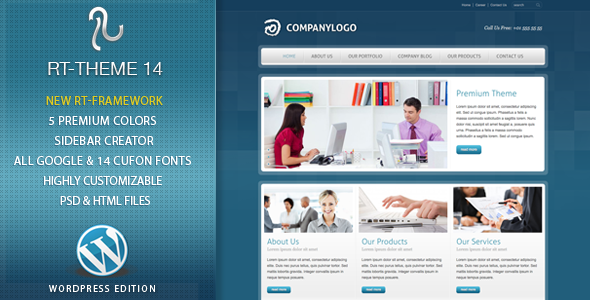 RT-Theme 14 Premium Wordpress Theme - Business Corporate