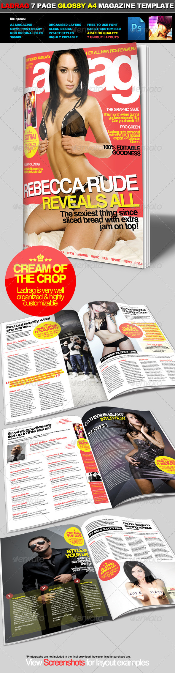 LadRag - Multi-Use Glossy A4 Magazine Template