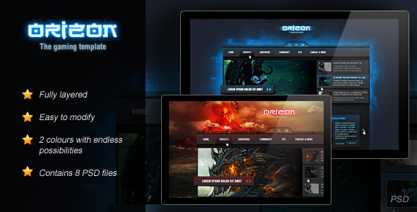 ThemeForest Orizon The Gaming Template 2901832