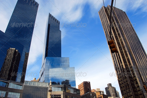 Modern buildings, New York - Stock Photo - Images