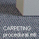 Carpeting Hi-Res procedural material - 3DOcean Item for Sale