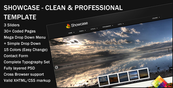 ThemeForest Showcase Professional Portfolio Template 140938
