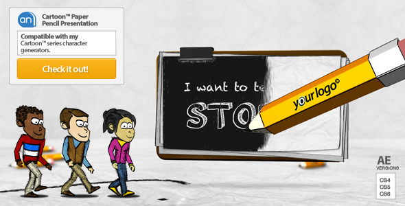 VideoHive Cartoon Paper Pencil Presentation 3249175