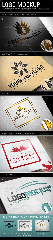 GraphicRiver 5 Logo Mockups 3249333