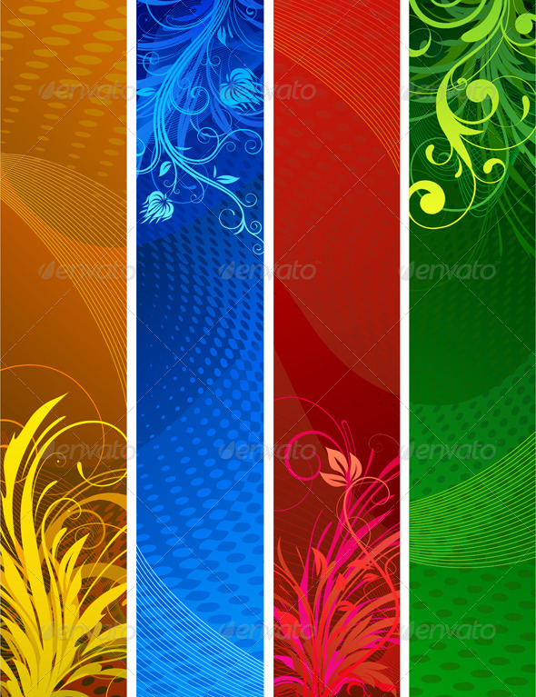 Banners set - Backgrounds Decorative