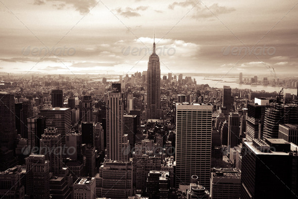Top of the rock, New York - Stock Photo - Images