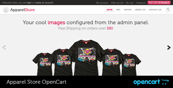 ThemeForest Apparel OpenCart Theme 335963