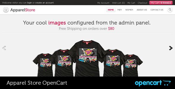 Apparel OpenCart Theme - Fashion OpenCart