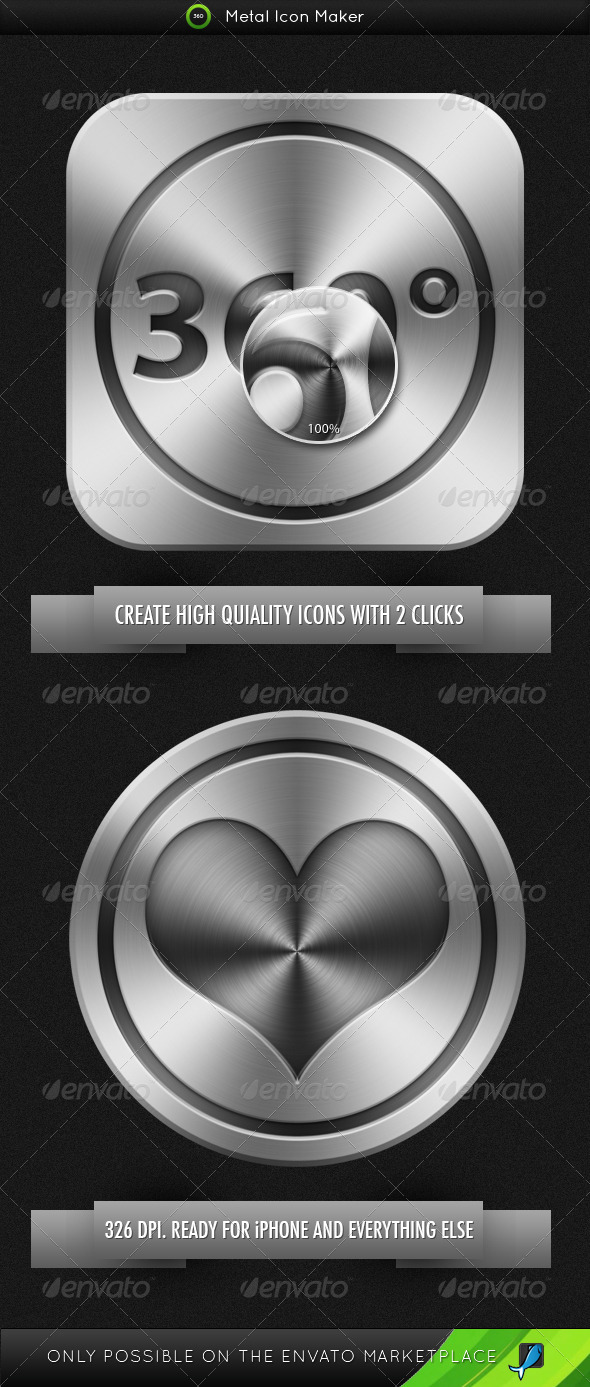 GraphicRiver Metal Icon Maker 336229