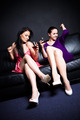 Beautiful women drinking and dancing - PhotoDune Item for Sale