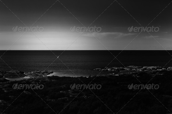 Lonely Sailboat - Stock Photo - Images