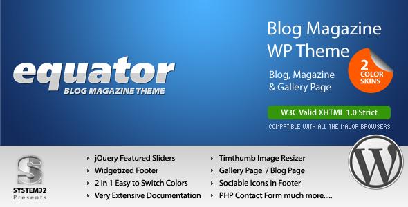 ThemeForest eQuator Global Community Wordpress Theme 65549