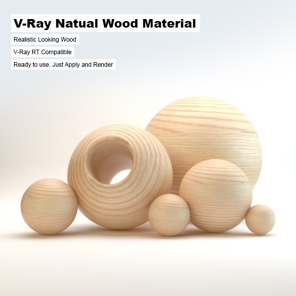 V-Ray Natural Wood Material - 3DOcean Item for Sale