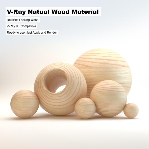 3DOcean V-Ray Natural Wood Material 3249935