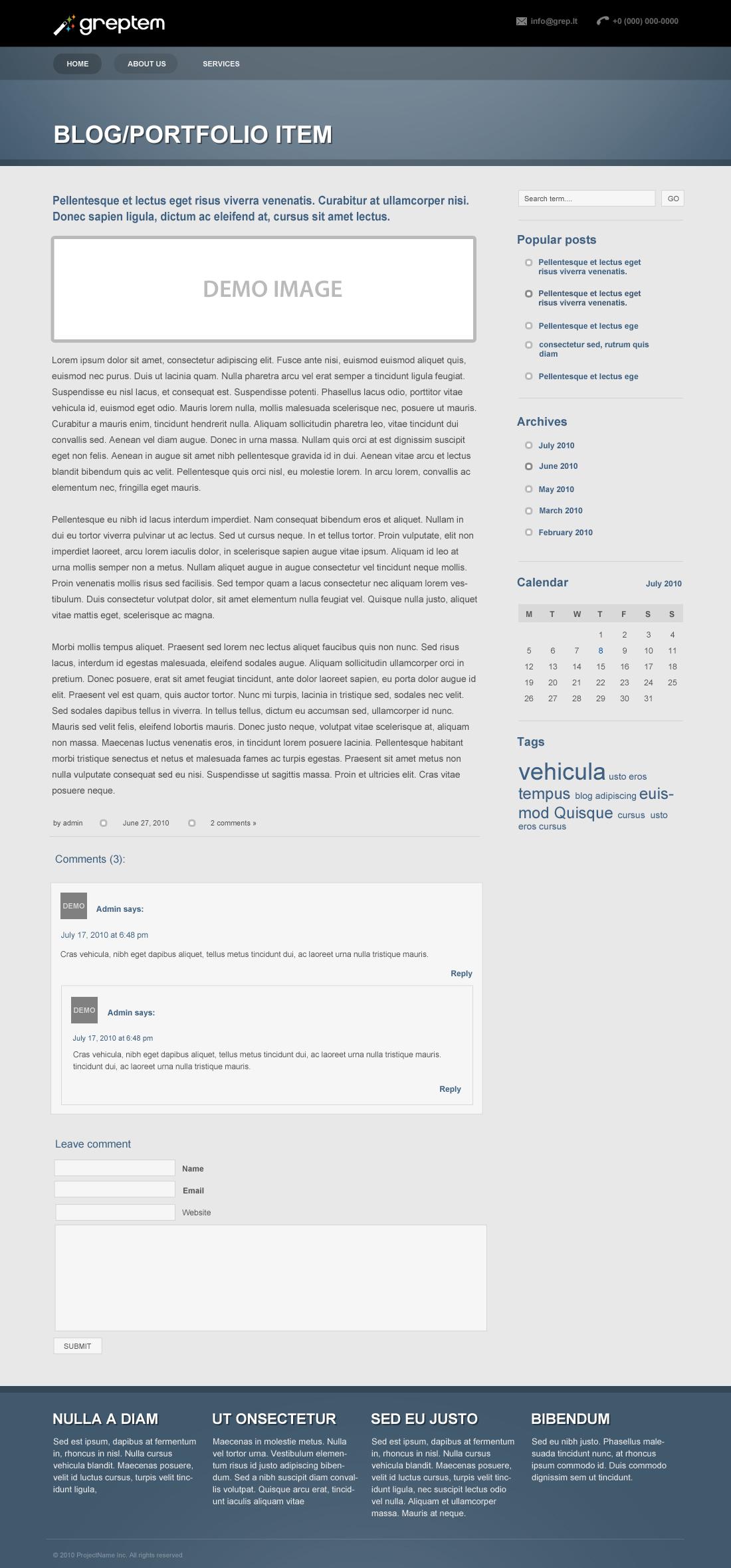 GReptem - Powerful Professional WordPress Theme