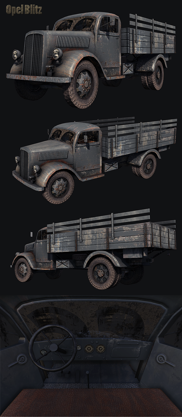 Opel Blitz Truck - 3DOcean Item for Sale