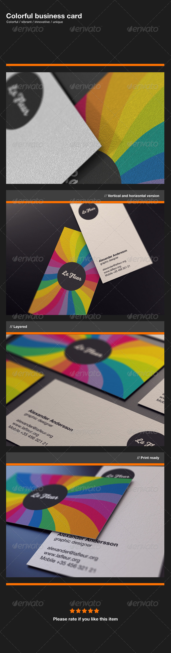 GraphicRiver Colorful Business Card 336352