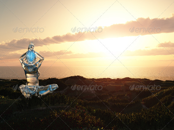 Yoga Afternoon Land - Stock Photo - Images