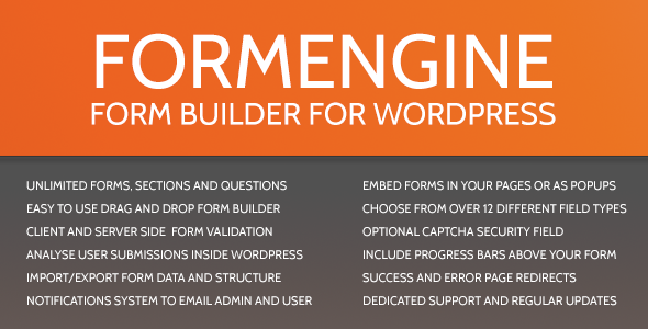 CodeCanyon FormEngine WordPress Contact Form Wizard 2510594