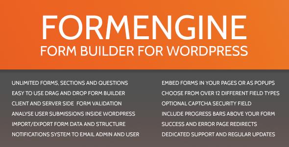 CodeCanyon FormEngine WordPress Contact Form Wizard 2510594