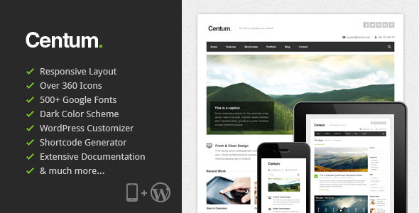 ThemeForest Centum Responsive WordPress Theme 3216603
