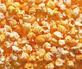Pile of fresh popcorn filling the frame against bright light - PhotoDune Item for Sale