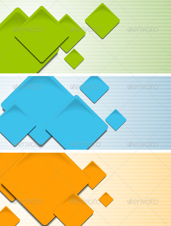 Bright hi-tech baners. Vector template - Backgrounds Decorative