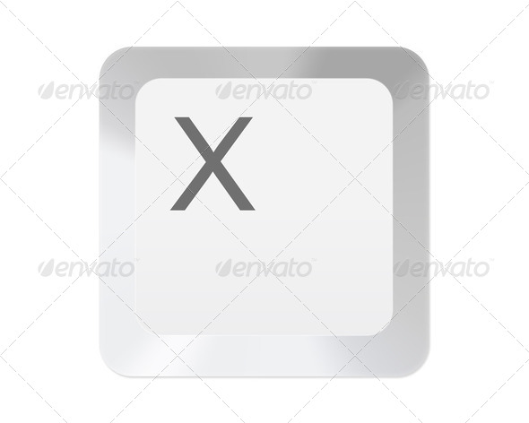 White computer key with letter - Stock Photo - Images