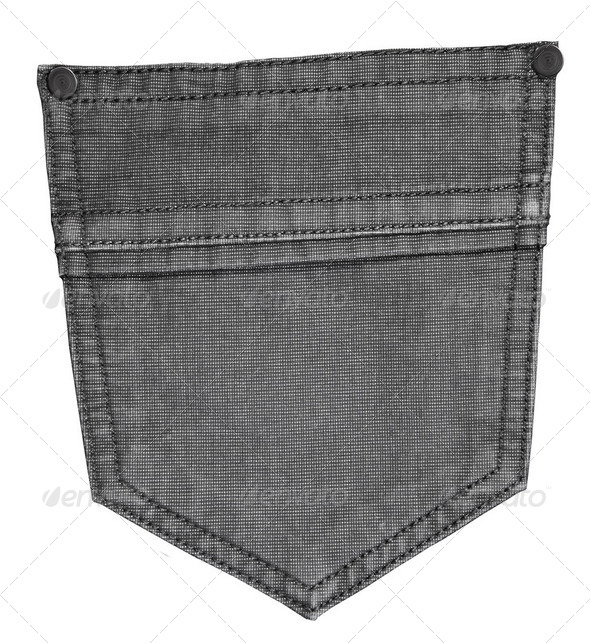 jeans pocket isolated - Stock Photo - Images