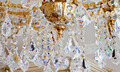Big luxury golden chandelier with lot of crystals in macro - PhotoDune Item for Sale