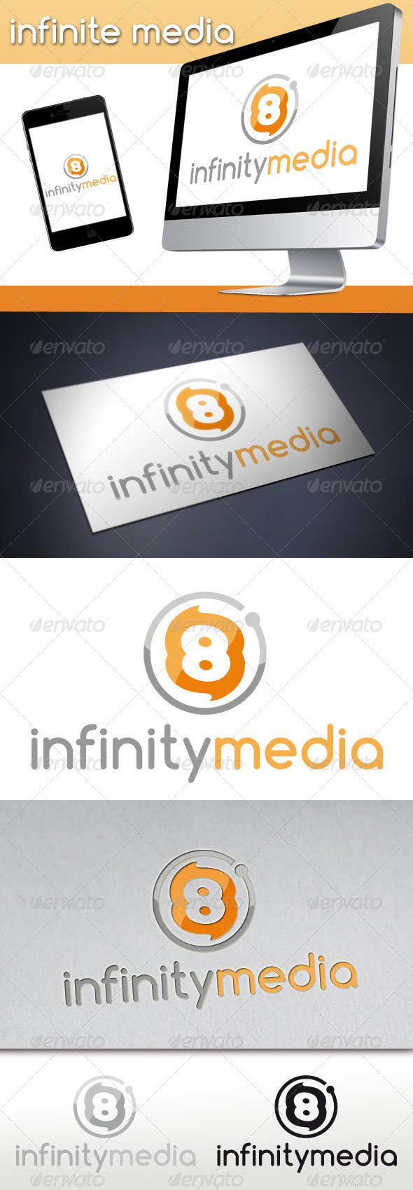 Infinity 8 Miedia Fire Logo - Numbers Logo Templates