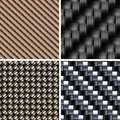 Set of various types of Carbon fiber textures. 3d vector - PhotoDune Item for Sale