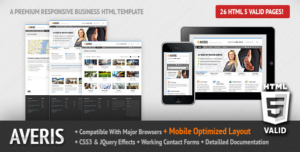 ThemeForest Averis Responsive Business HTML Template 3251544