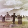 Misty Graveyard - PhotoDune Item for Sale
