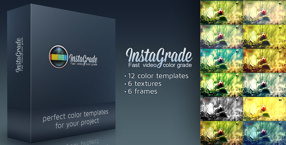 After Effects Project - VideoHive InstaGrade Color Correction Template 3226036