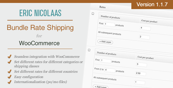 CodeCanyon WooCommerce E-Commerce Bundle Rate Shipping 1429243