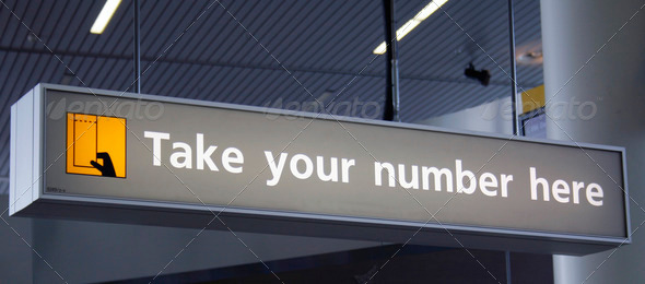 Take your number here - Stock Photo - Images