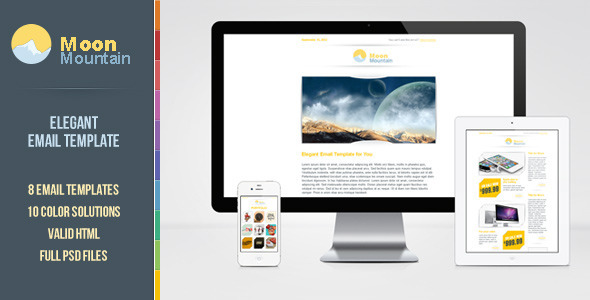ThemeForest MoonMountain Email Template 3253898