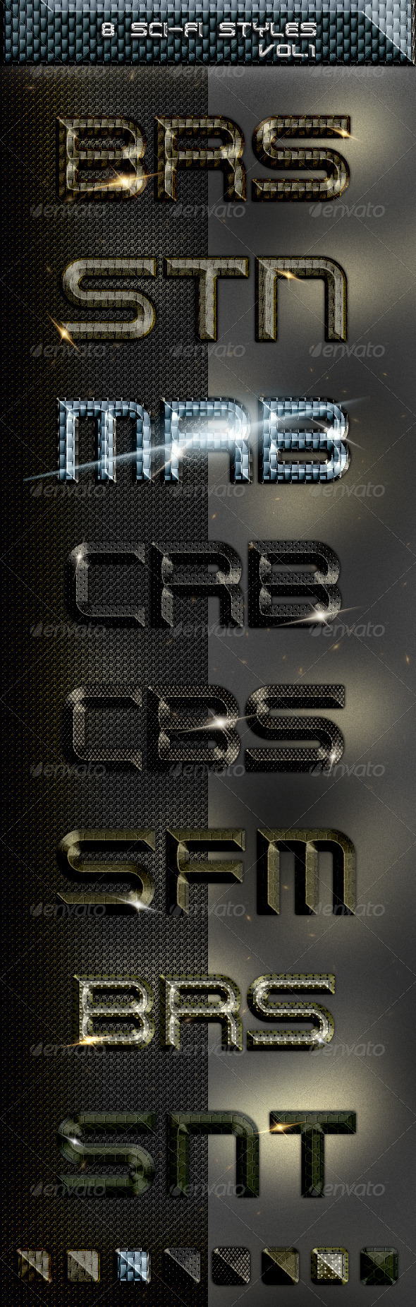8 Sci-Fi Styles - Text Effects Styles