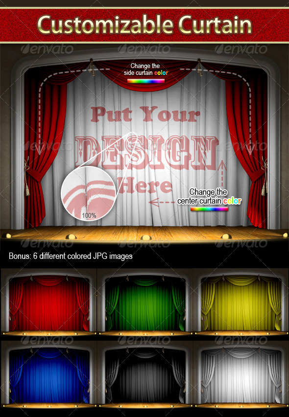 Customizable Curtain - Backgrounds Decorative