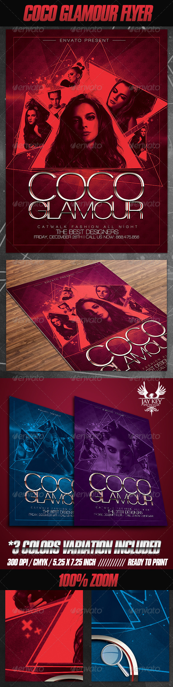 GraphicRiver Coco Glamour Flyer 3254193