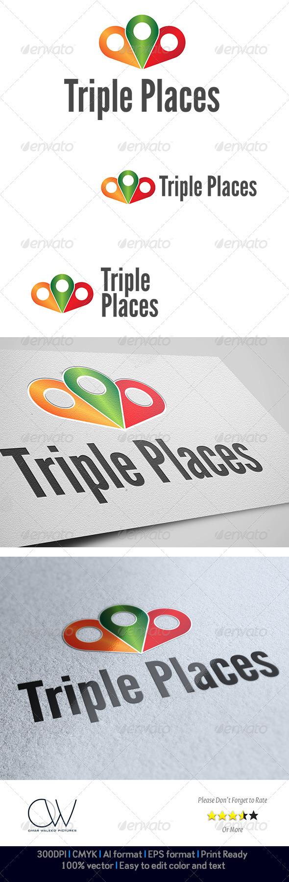 GraphicRiver Triple Places Logo 3240607