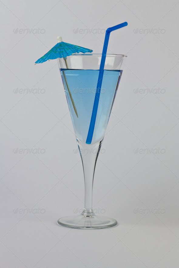 Blue Cocktail - Stock Photo - Images