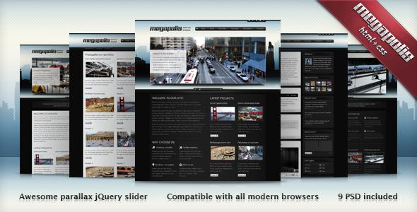 Megapolis HTML+PSD