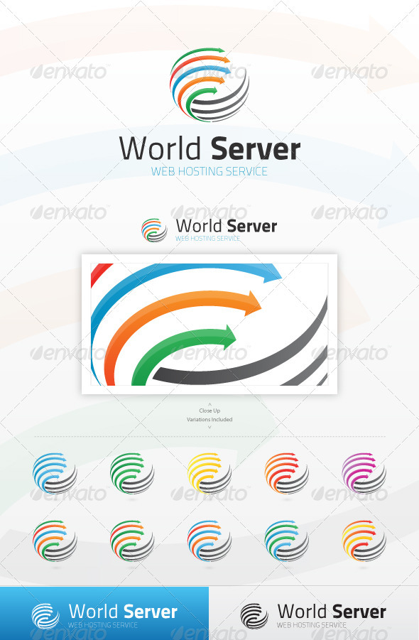 World Server Logo - Symbols Logo Templates
